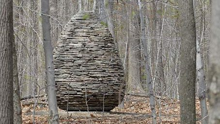 Andy Goldsworthy cairn Sapsucker Woods