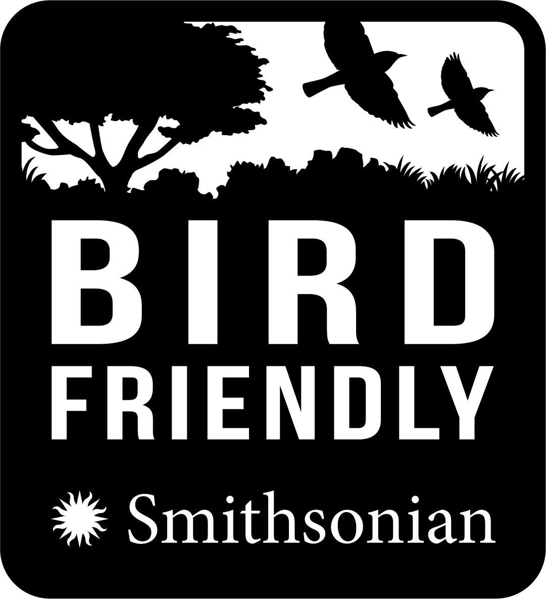 Smithsonian-Bird friendly coffee label