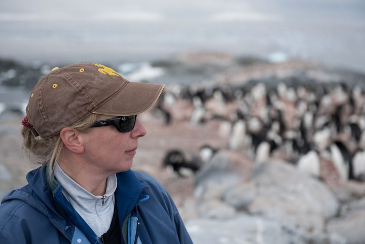 donna fraser at palmer station, antarctica