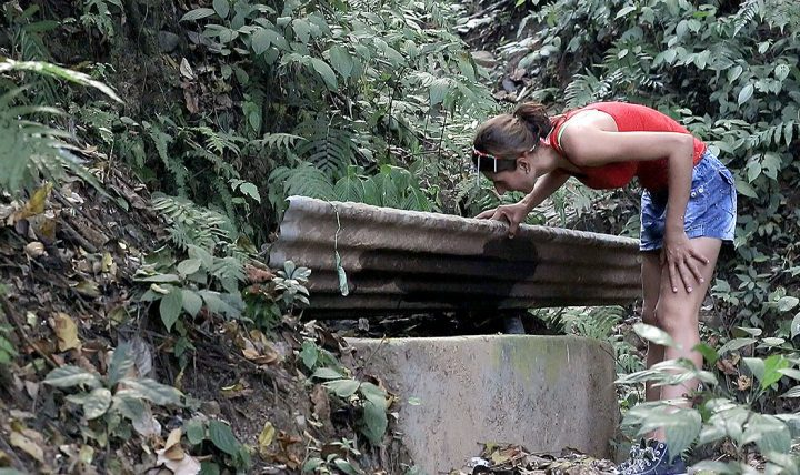 A natural spring provides water for Veronica